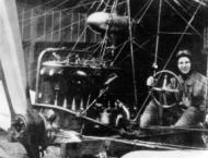 Anthony Fokker in his first aircraft, the spider