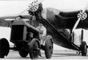 Fokker F.XII, tractor bringing it to the hangar, 1930