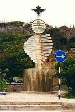 "A monument for the 1934 Christmas flight of the ""Snip"" near Hato airport, Curaçao"