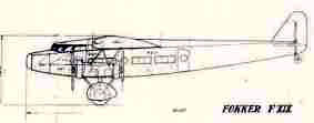 Original drawing for the Fokker F.XIX