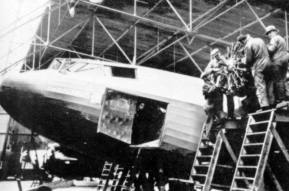 Fokker F.XXII Kwikstaart from KLM in the final assembly in the Fokker factory