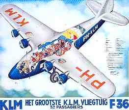 Poster promoting the Fokker F.36