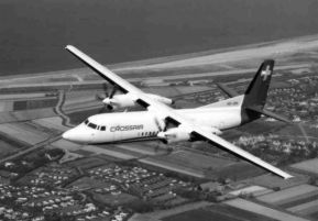 Fokker F.50 Crossair, photo presented by Fokker company