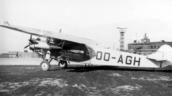 Fokker F.VIIb-3m built in license by SABCA in Belgium in 1932