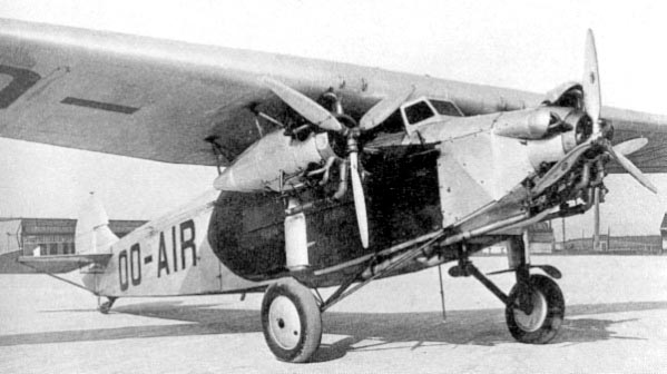 Fokker F.VIIb-3m built in license by SABCA in Belgium in 1930