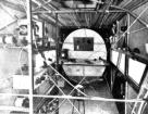 The cabin and navigationroom of the Southern Cross. The extra fueltank is clearly visable