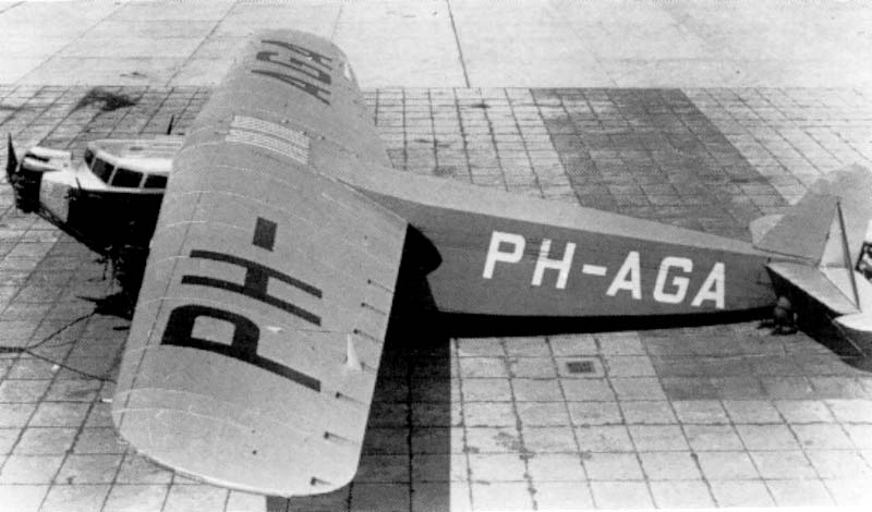 In October 1929 the F.IX PH-AGA received its certificate of airworthiness following which Fokker immediately flew to London with his latest commercial aircraft