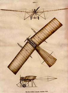 Drawing made in 1910 with the first design of the Fokker Spider, the first Fokker aircraft