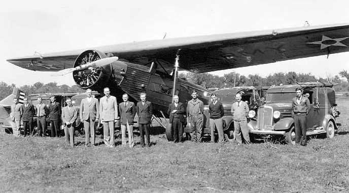 Fokker F14B, crew of the automatic landing experiments
