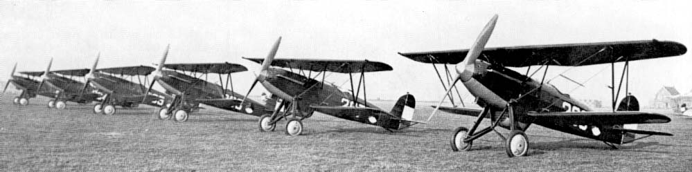 Serie of Fokker D.17's of the LVA (Royal Dutch Airforce)