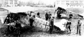 Fokker D.7 at the front in WO I