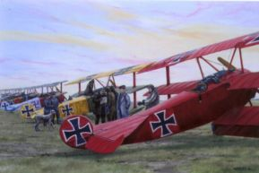 Richthofen Circus, Fokker Dr1 at the front