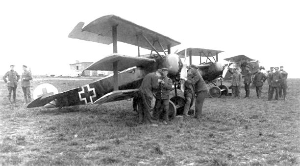 Fokker Dr.1 at the front