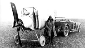 Anthony with a Fokker M.17E
