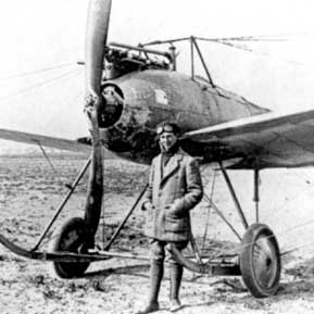 Anthony Fokker in front of a Fokker M.2.