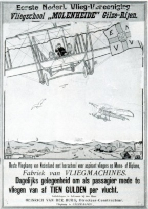 Poster of the Flying school Molenheide at Gilze-Rijen in the south of the Netherlands