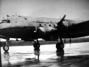 February 21 1946, the first arrival of the service New York - Amsterdam at Schiphol
