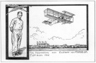 Postcard remembering Clement van Maasdijk, who was the first aviationcasualty in the Netherlands