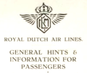 General information leaflet 1929