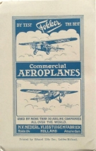 KLM airguide with Fokker advertising, 1929