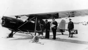 The KLM airtaxi, a Koolhoven FK43. KLM used six of these aircrafts
