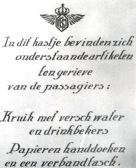 Poster in the Fokker F.II