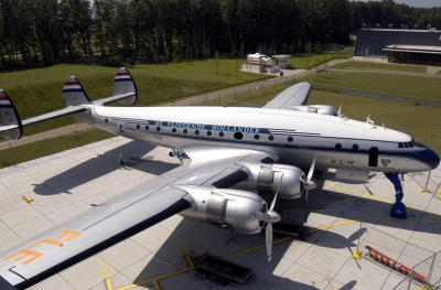 KLM Constellation, the last aircraft Adriaan Viruly flew in 1954