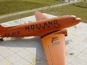 In the tense wartime situation in European skies all KLM aircraft still operating had 'Holland' painted in large letters on their fuselage to identify them as neutral