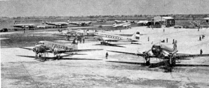 Schiphol 1946, lots of Dakota's were used in these years