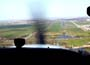 Approach Rotterdam Airport runway 06, strong sidewinds, but I actually landed in the middle of the runway