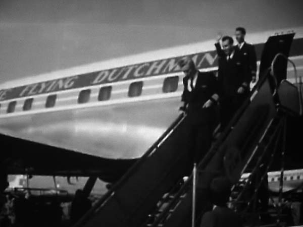 Viruly and crew arriving at Schiphol after the Triton disaster